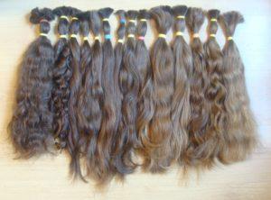 Haare für die Haarverlängerung