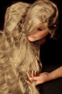 Haarverlängerung Model