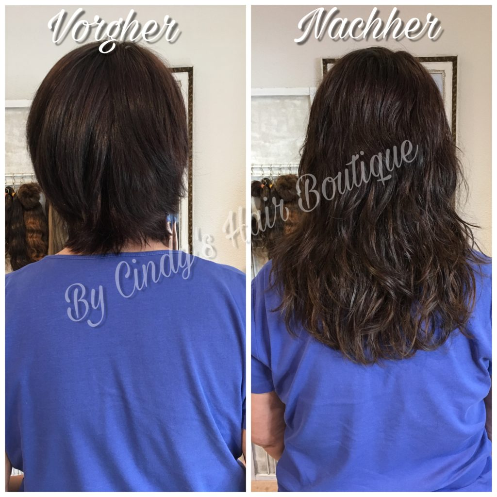 Haarverlangerung vorher nachher bilder kurze haare