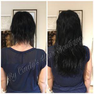 Haarverlängerung Vorher Nachher Cindys Hair Boutique